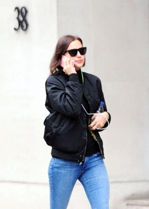 Irina Shayk in Jeans out and about in London