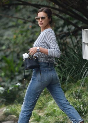 Irina Shayk in Jeans Out in Los Angeles
