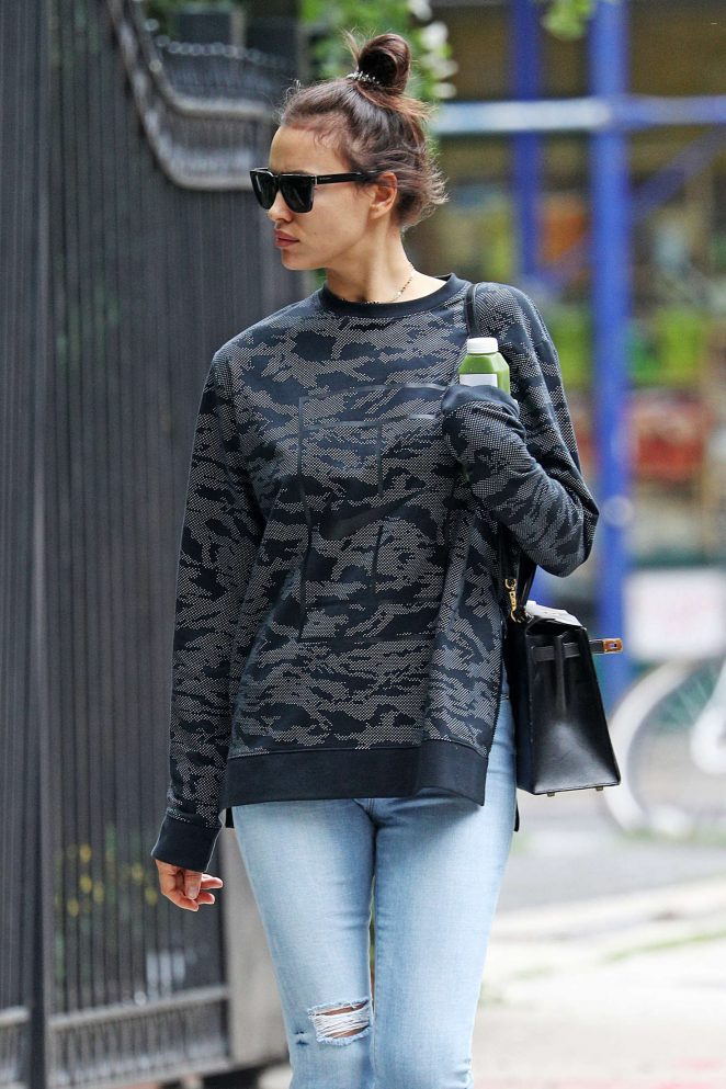 Irina Shayk in Jeans out in New York