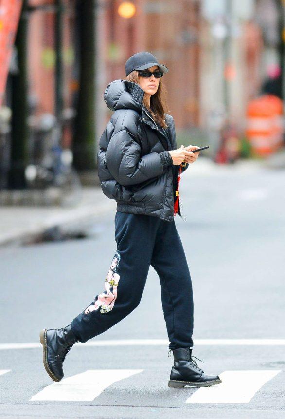 Irina Shayk is spotted in New York