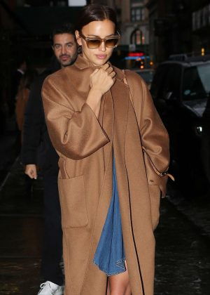 Irina Shayk - Leaves her hotel in NY