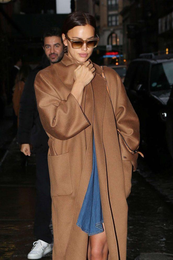 Irina Shayk - Leaves her hotel in NY