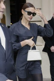 Irina Shayk - leaves her hotel in Paris