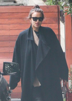 Irina Shayk - Leaving Bradley Cooper's house in Los Angeles