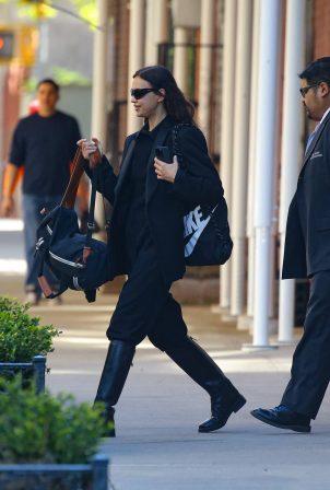 Irina Shayk - Leaving her apartment in New York