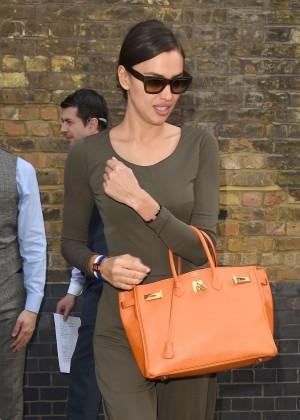 Irina Shayk - Leaving the Chiltern Firehouse in London