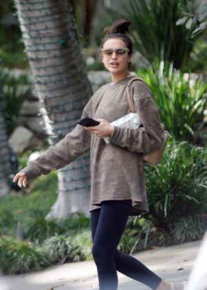 Irina Shayk - Leaving the gym in LA