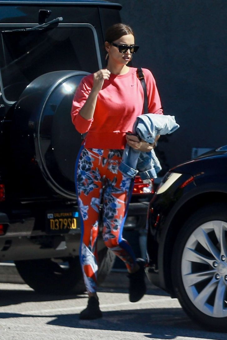 Irina Shayk - Leaving the gym in Los Angeles