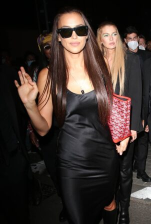 Irina Shayk - Leaving the Versace Runway Show in Milan
