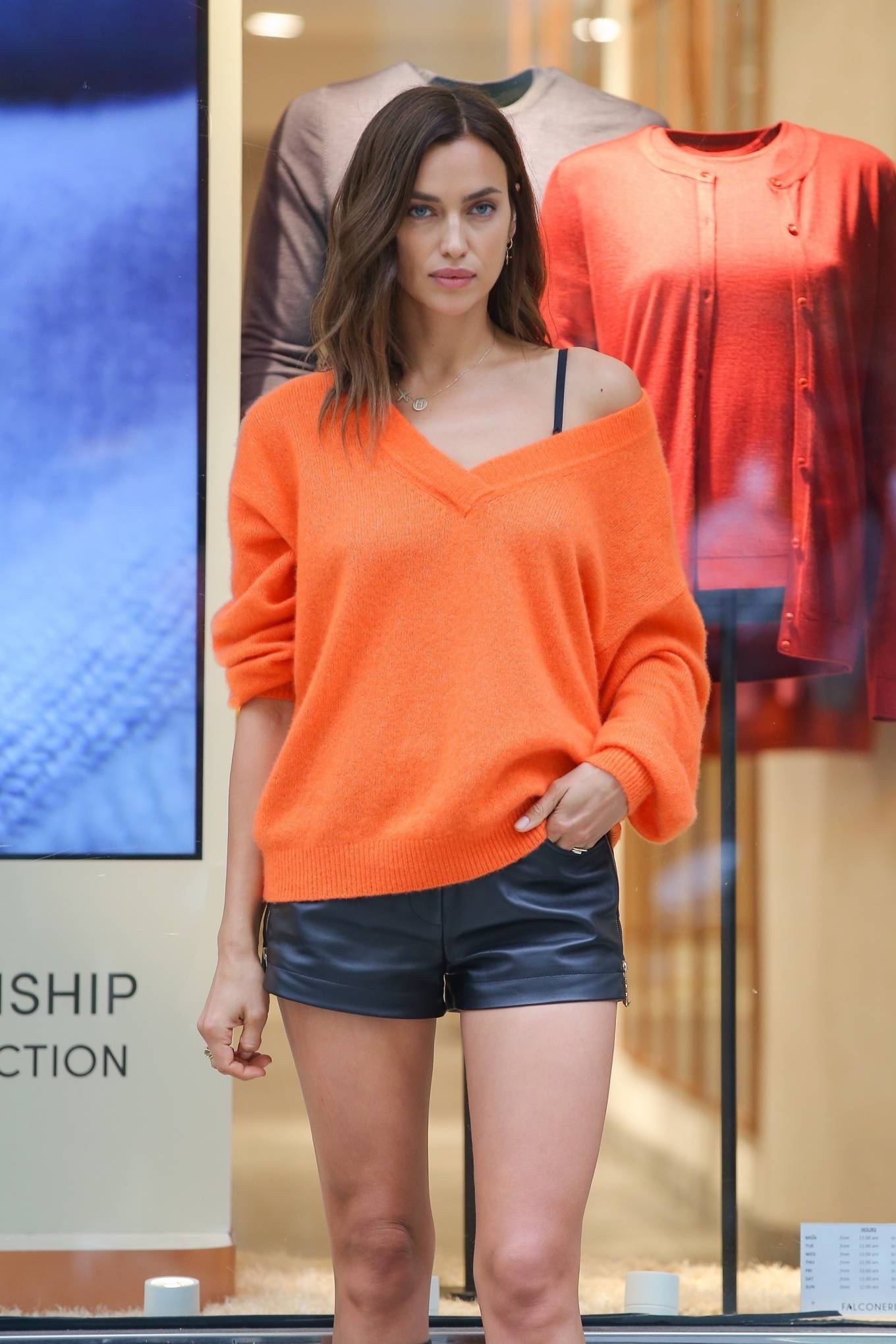 Irina Shayk - Look chic at the Falconeri boutique in NYC