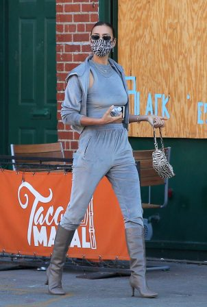 Irina Shayk - Look fashionable while out in New York