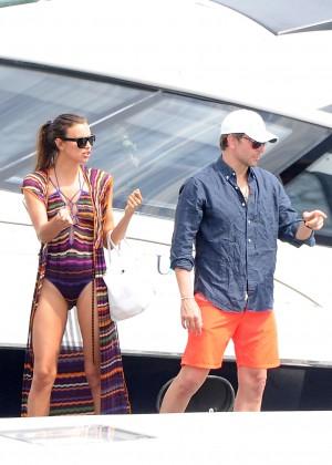 Irina Shayk in Swimsuit on vacation in Amalfi Coast