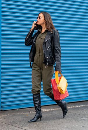 Irina Shayk - out and about in NYC