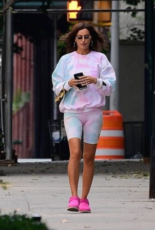 Irina Shayk - Out for a coffee run in New York