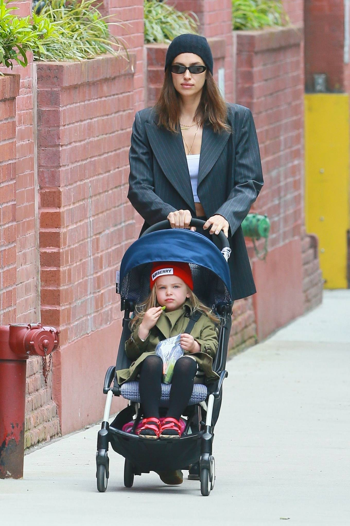 Irina Shayk - Out for a stroll with her daughter in New York