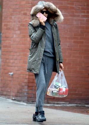 Irina Shayk out in New York