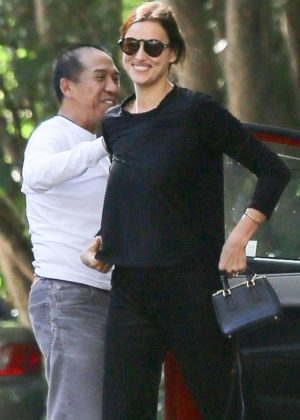 Irina Shayk out in Pacific Palisades