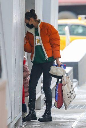 Irina Shayk - Out in snowy New York