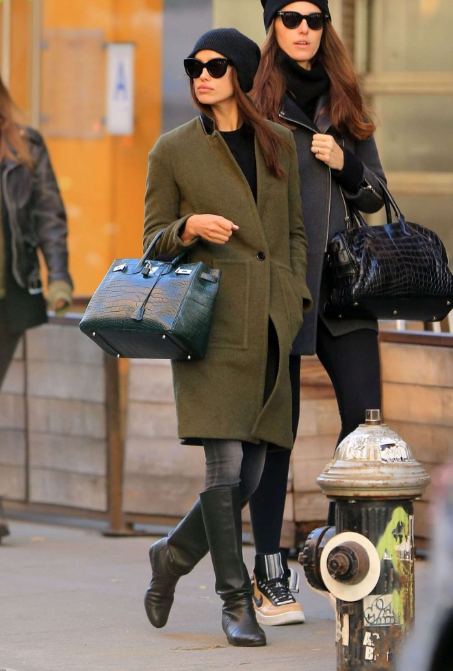 Irina Shayk out in Soho