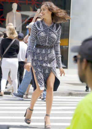 Irina Shayk - Photoshoot on Fifth Avenue in New York