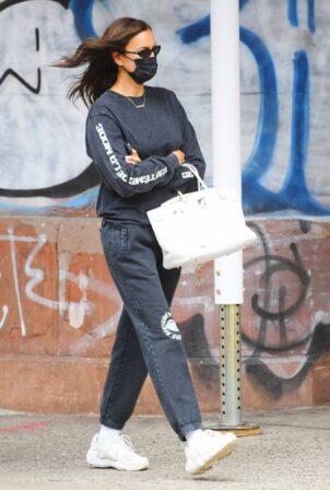 Irina Shayk - running errands in New York