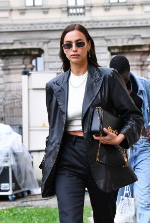 Irina Shayk - Seen leaving the Hugo Boss show at Milan Fashion Week 2020