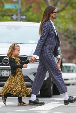 Irina Shayk - seen out with her daughter in Manhattan