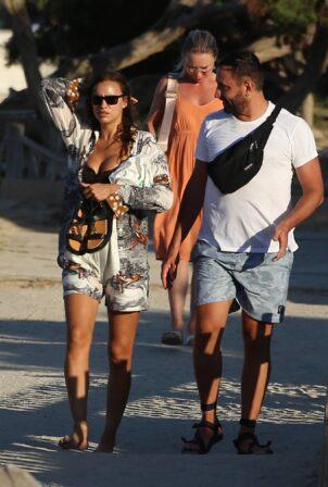 Irina Shayk - Seen with Riccardo Tisci and friends leaving El Chinringuito Es Cavallet in Ibiza