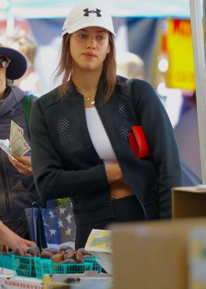 Irina Shayk - Shopping at Farmer's Market in Santa Monica