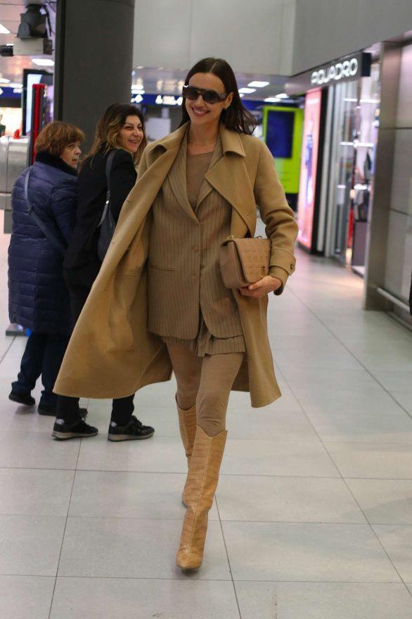 Irina Shayk spotted in Milan