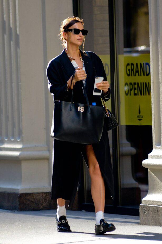 Irina Shayk - Steps out in New York City