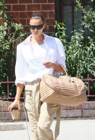 Irina Shayk - Steps out in New York