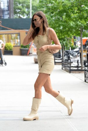 Irina Shayk - Steps out in NYC
