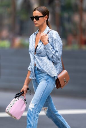 Irina Shayk - Stroll in New York