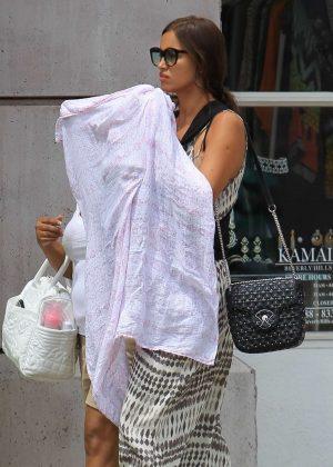 Irina Shayk takes baby daughter to shopping in Beverly Hills