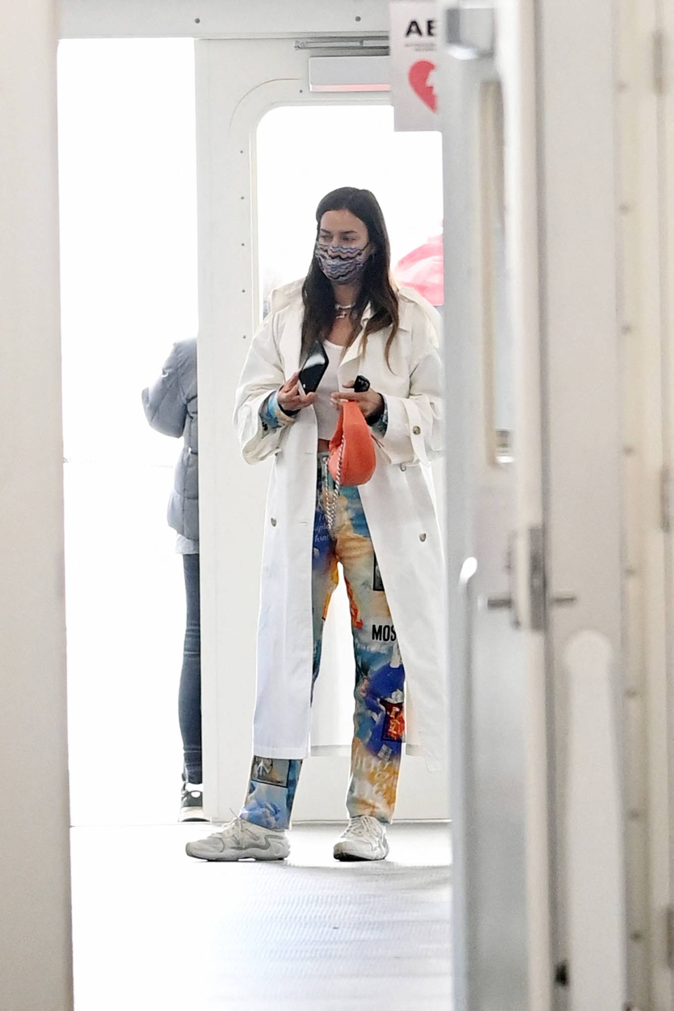 Irina Shayk - Takes the ferry out to Governor's Island in New York