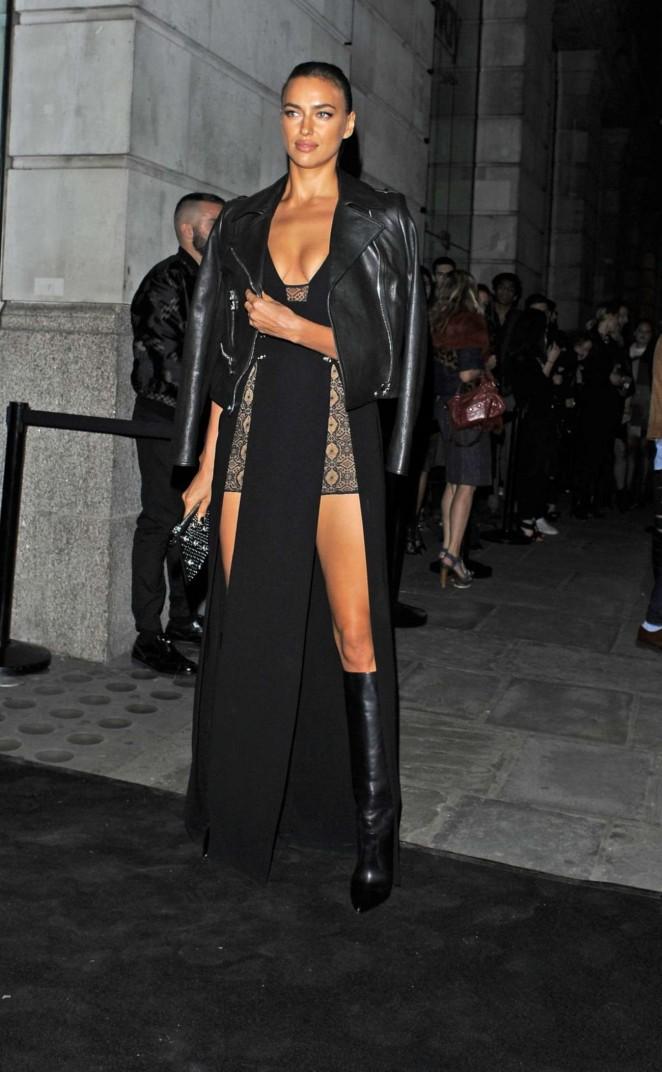 Irina Shayk: Versus By Versace Fashion Show -03