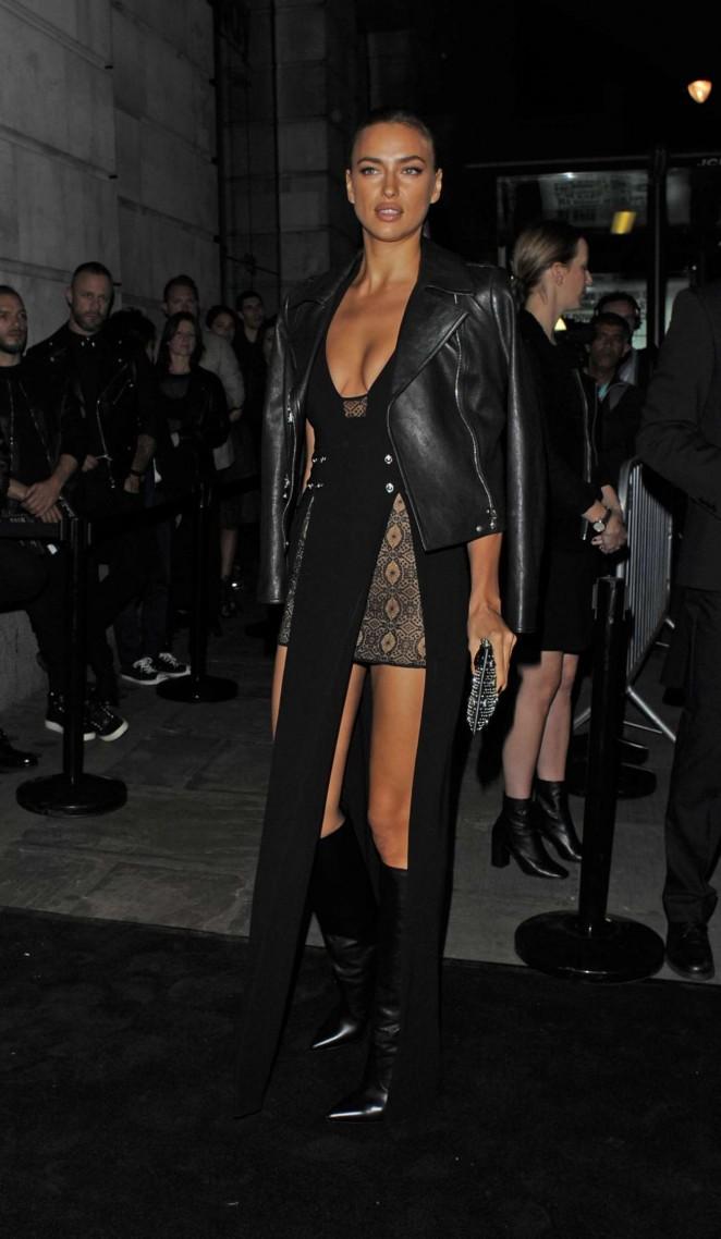 Irina Shayk: Versus By Versace Fashion Show -07