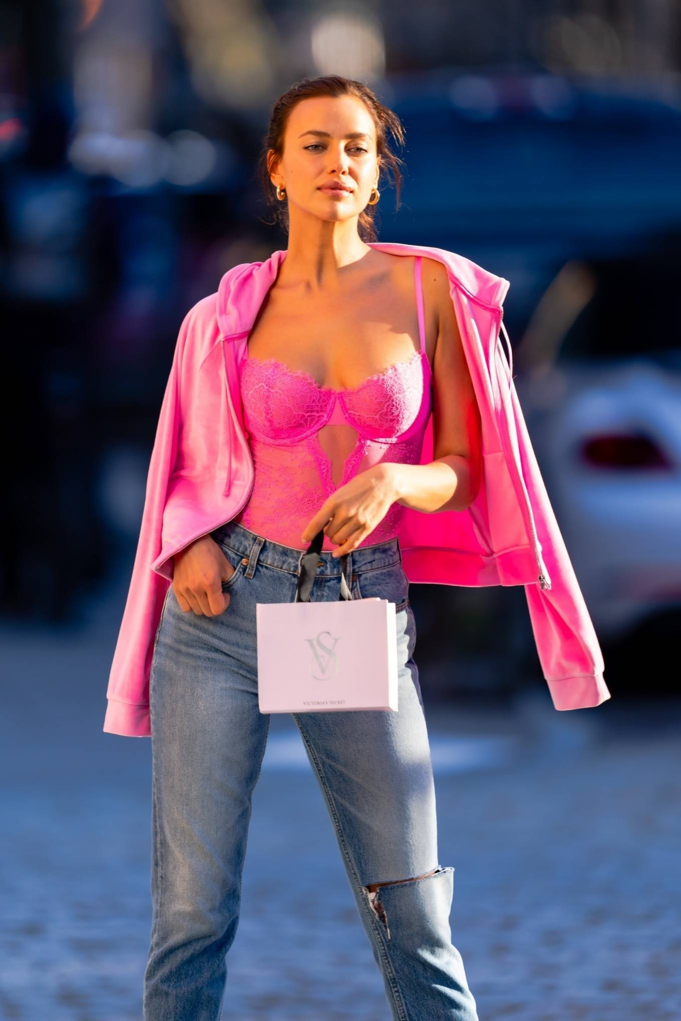 Irina Shayk - Victoria's Secret photoshoot in New York