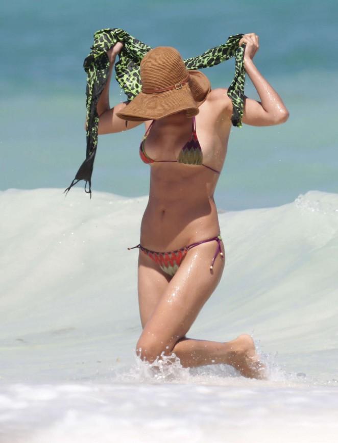 Irina Shayk – Wearing Bikini On holiday in Mexico