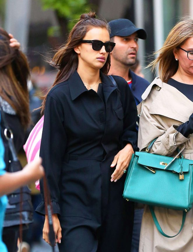 Irina Shayk with friends out in New York City
