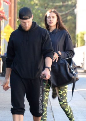 Irina Shayk with personal trainer Jason Walsh in West Hollywood