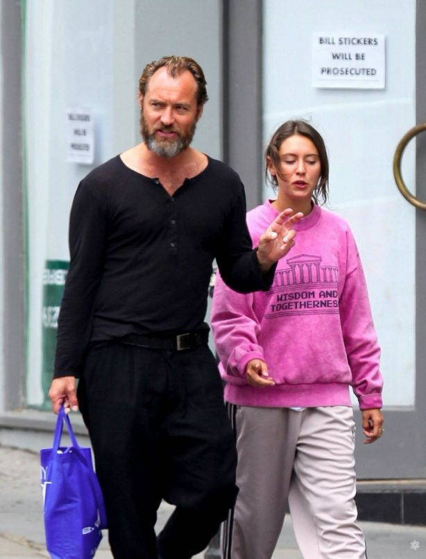 Iris and Jude Law - Out shopping on the Hampstead High Street in London