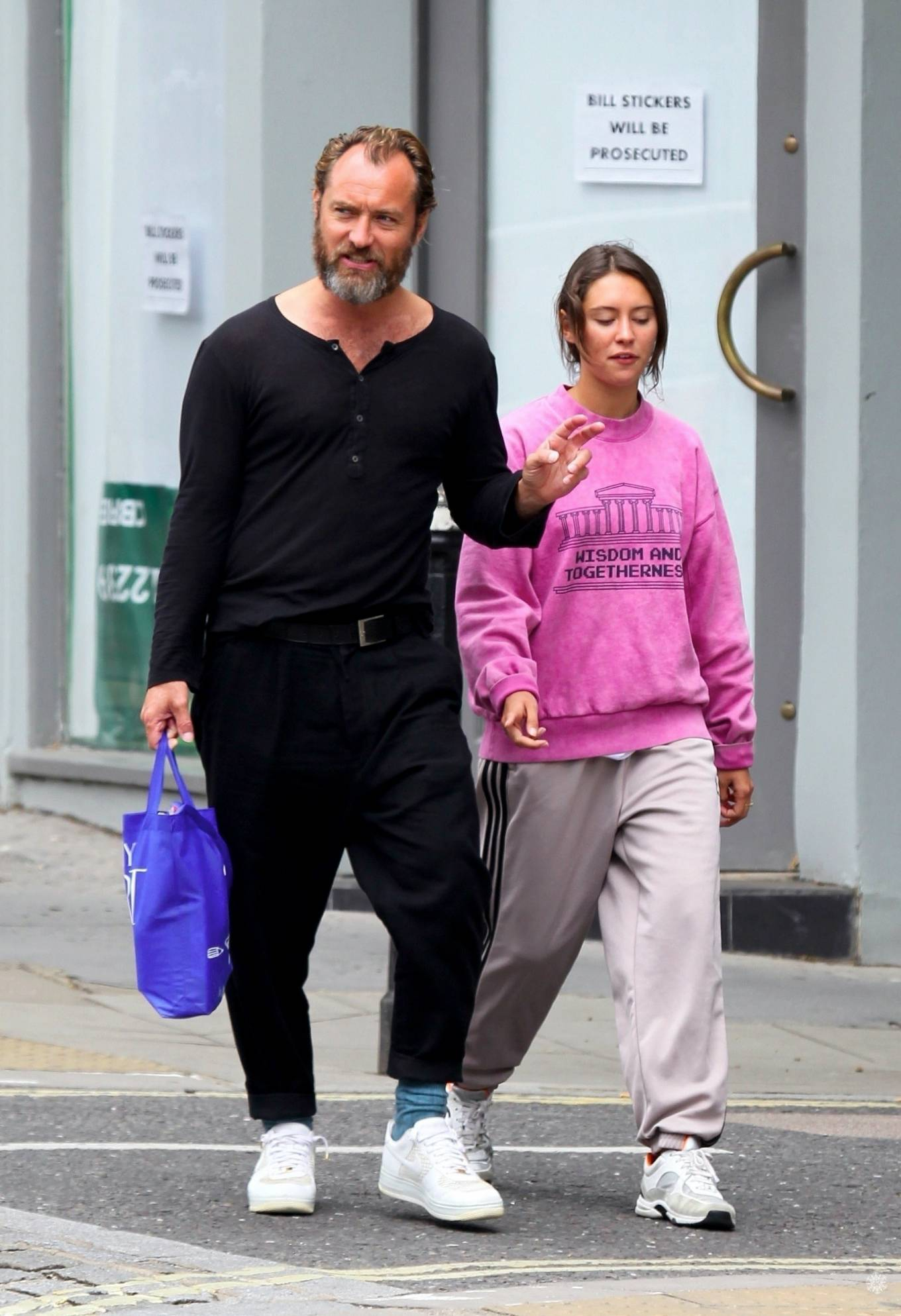 Iris Law 2020 : Iris and Jude Law – Out shopping on the Hampstead High Street in London-08