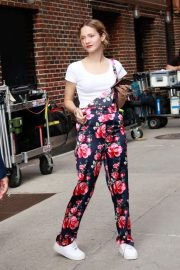 Iris Apatow - Arrives at 'The Late Show With Stephen Colbert' in New York
