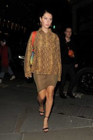 Iris Law - Arrives at Mulberry Party in London