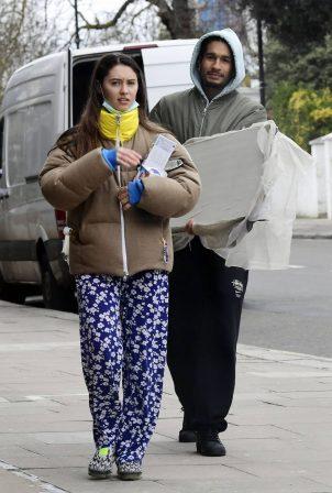 Iris Law - With her boyfriend Jyrrel Roberts out in London