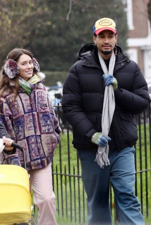 Iris Law - With her boyfriend Jyrrel Roberts out in North London