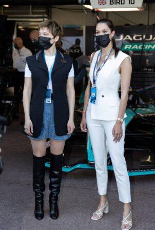 Iris Mittenaere and Léa Seydoux - Celebrities attend the Monaco E-Prix 2021