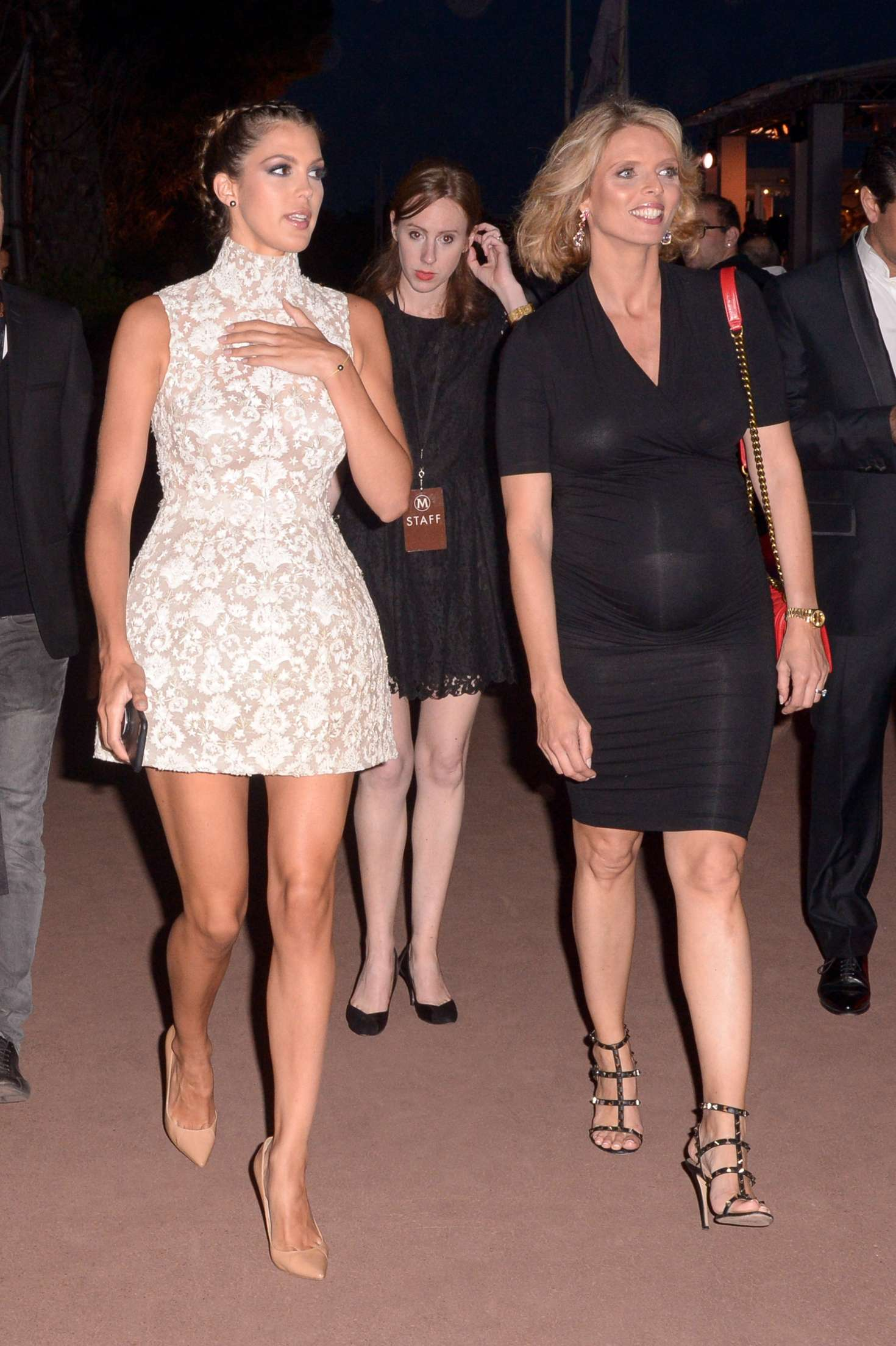 Iris Mittenaere and Sylvie Tellier Sighting night out in Cannes